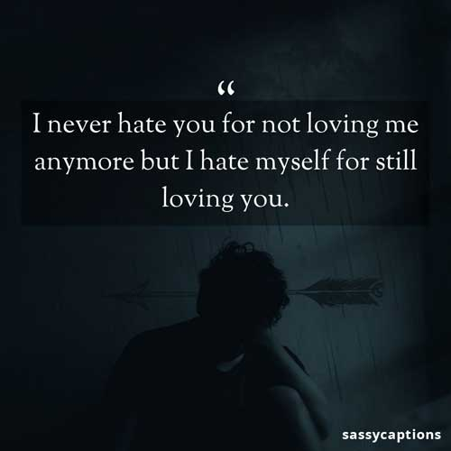 Sad breakup captions for Instagram